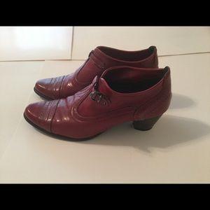Marine Italian Designer Red Ankle Boot